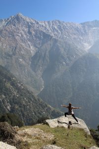 Yoga and hiking in the Himalayas