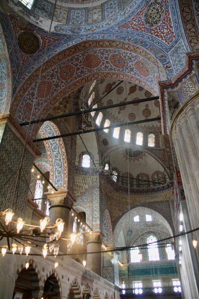 Long Layover in Istanbul, Mosque Interior